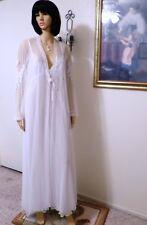 "Jonquil by Diane Samandi Pure White Bridal Peignoir Set ""Gabriella"" size L"
