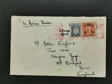 CHINA 1940's MARITIME MAIL COVER TO ENGLAND MIXED WITH POSTAGE DUE.