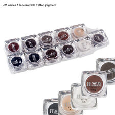 PCD Permanent Eyebrow Makeup Micro Pigment Microblading Tattoo Ink Set 11 Colors