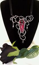 ALCHEMY NECKLACE - FUNERAL FOR A PARAMOUR - GOTHIC COFFIN JEWELLERY PENDANT