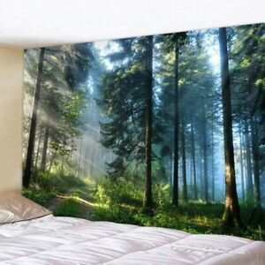 NATURAL FOREST PRINTED TAPESTRY WALL HANGING BOHEMIAN TAPESTRIES HOME DECORATION