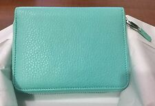 Tiffany & Co. Blue Smart Mini Zip Wallet in Grain Leather ~ New and Authentic
