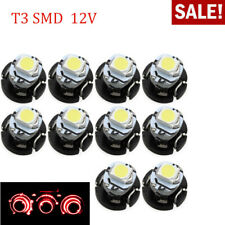 10x T3 1SMD 1210 Car LED Bulb Instrument Lamp Interior Dashboard Light Red 12V