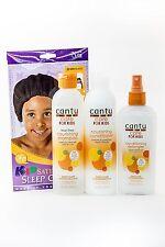 Cantu Care for Kids Set Shampoo, Conditioner, Detangler+Kids Sleep Cap Bonus
