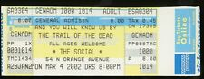 And You Will Know Us By The Trail Of Dead UNUSED 2002 CONCERT TICKET stub/no-cd