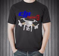 New Dji Phantom 3 Drone Pilot Video Blog Vlog Vlogger Black T-shirt Size S To 5X