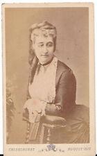 Photo CDV Impératrice Eugénie, de son exil anglais (1872)