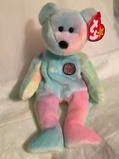 TY Beanie Baby - BB BEAR the Birthday Bear - Pristine with Mint Tags - RETIRED