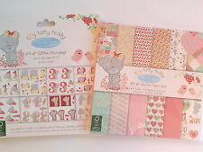 Tiny Tatty Teddy GIRL 8x8 Premium Paper + Glitter Decoupage Pad UK ONLY
