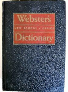 1961 Webster's Dictionary  New School & Office  - Hard Cover