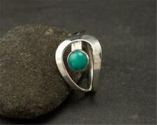 Sparkling 925 Silver Turquoise Gemstone Ring Wedding Bridal Women Jewelry Size 9