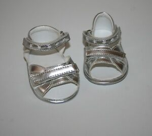 Carter Silver Baby Sandals Size 2M