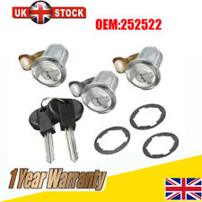 3X Barrel Door Lock Set Compatible For Peugeot Partner Xsara Citroen Berlingo