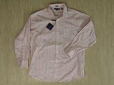 Tommy Hilfiger White Red Dress Shirt Men's Size 17 34-35 Formal Long Sleeve