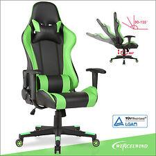 High Back Office Gaming Chair Racing Seats Computer Chair Executive Rocker Green