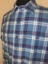 Ralph Lauren Double RL RRL Plaid Button Down Shirt Sz L