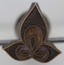 Fer à Dorer Fleuron modèle Alde azuré XVIe s. Bronze Reliure Relieur Doreur #46