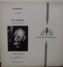 Paul Hindemith Keyboard Music Volume 1 33RPM 2-record set  010817LLE