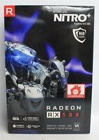 BNIB SAPPHIRE Radeon RX 580 NITRO 8GB GDDR5 2x DP/2x HDMI/DVI-D Graphics Card