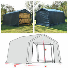10'x15'x8' FT Storage Shed Logic Tent Shelter Car Garage Steel Carport Canopy