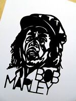 "BOB MARLEY, Original Pop Art, 3½""X 5"" inches Vinyl decal sticker Portrait"