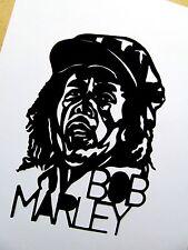 "Bob Marley, Original Arte Pop, 3 1/2 ""X 5"" pulgadas de vinilo autoadhesivo con retrato"