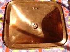 TARNISHED COPPER Moroccan hand hammered large rectangle sink wash basin