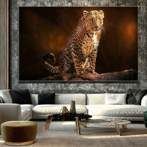 Poster Painting Animal Leopard Wall Art Pictures Cuadros for Artwork Printed on