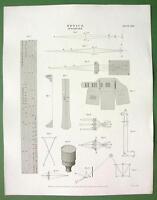 OPTICS Optometer Reflection Polyhedron Polemoscope - 1820 Original Antique Print