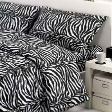 Juego de sábanas Cebra blanco y negro - Hecho Italia Calidad Cama Matrimonio