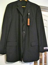 Pierre Cardin 46L Dark Navy Wool 3B Mens Sport Coat Blazer Jacket NEW w TAGS