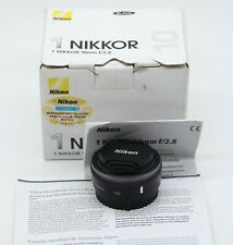 Nikon 1 10mm F/ 2.8 Prime Black Lens fits J5 J3 J4 J2 J1 V1 V2 S1 Mint Condition