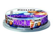 10 Philips Rohlinge Dvd-r 4 7gb 16x Spindel