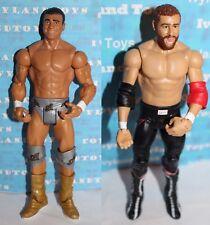 WWE Sami Zayn & Alberto Del Rio Mattel Basic Action Figure Lot of 2 Wrestling