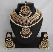 Beautiful Wedding Engagement Choker White Kundan Pearl Necklace Jewelry Set