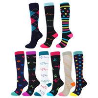 Compression Socks Nurse Women Men Running Medical 20-30 mmHG Size S/M-X/XL