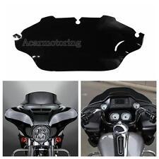 "Dark Black 8"" Wave Windshield Windscreen Fit Harley Electra Street Glide Touring"