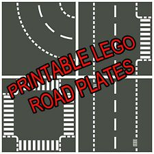 "LEGO 8.5""x11"" Printable Road Plate Standard Dark Gray PDF electronic only"