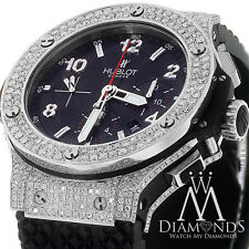 Hublot 301.SX.130.RX Big Bang Diamond Watch Black Dial on Rubber Strap