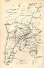 Guerra peninsulare Mappa / piano di battaglia BATTAGLIA ~ difesa del Portogallo 1810