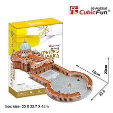 New ST. PETER'S BASILICA Vatican City Rome 3D Jigsaw Puzzle 144 Pieces MC092H