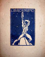 Publio Morbiducci Xilografia impr. in blu prova di stampa fascismo Cambellotti