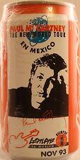 Paul McCartney (Beatles) New World Tour Mexico Coca Cola Can Nov. 93 - New