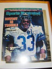 1985 Dalles Cowboys Tony Dorsett Signed Sports Illlustrated Magazine In Frame