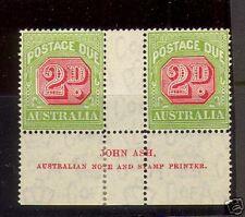 Australia #J59 Mint John Ash Gutter Pair