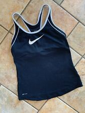 Nike Dri Fit Racer Back Top Black Size M