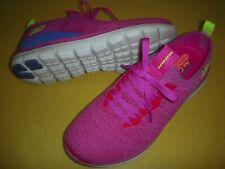 Skechers Turn Knit, Memory Foam, Faux Lace, Slip-On Sneakers Women's 7.5 M Pink~