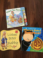 3 kids books BOARD BOOKS little suzy's zoo KAREN KATZ BABY PUMPKIN peter rabbit