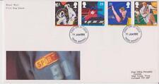 GB Royal Mail FDC 1991 Sport sello conjunto Pegatina Truro PMK Po
