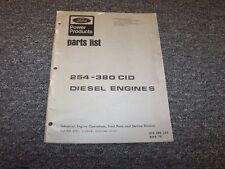Ford 254 362 363 380 CID Diesel Engine Factory Original Parts Catalog Manual